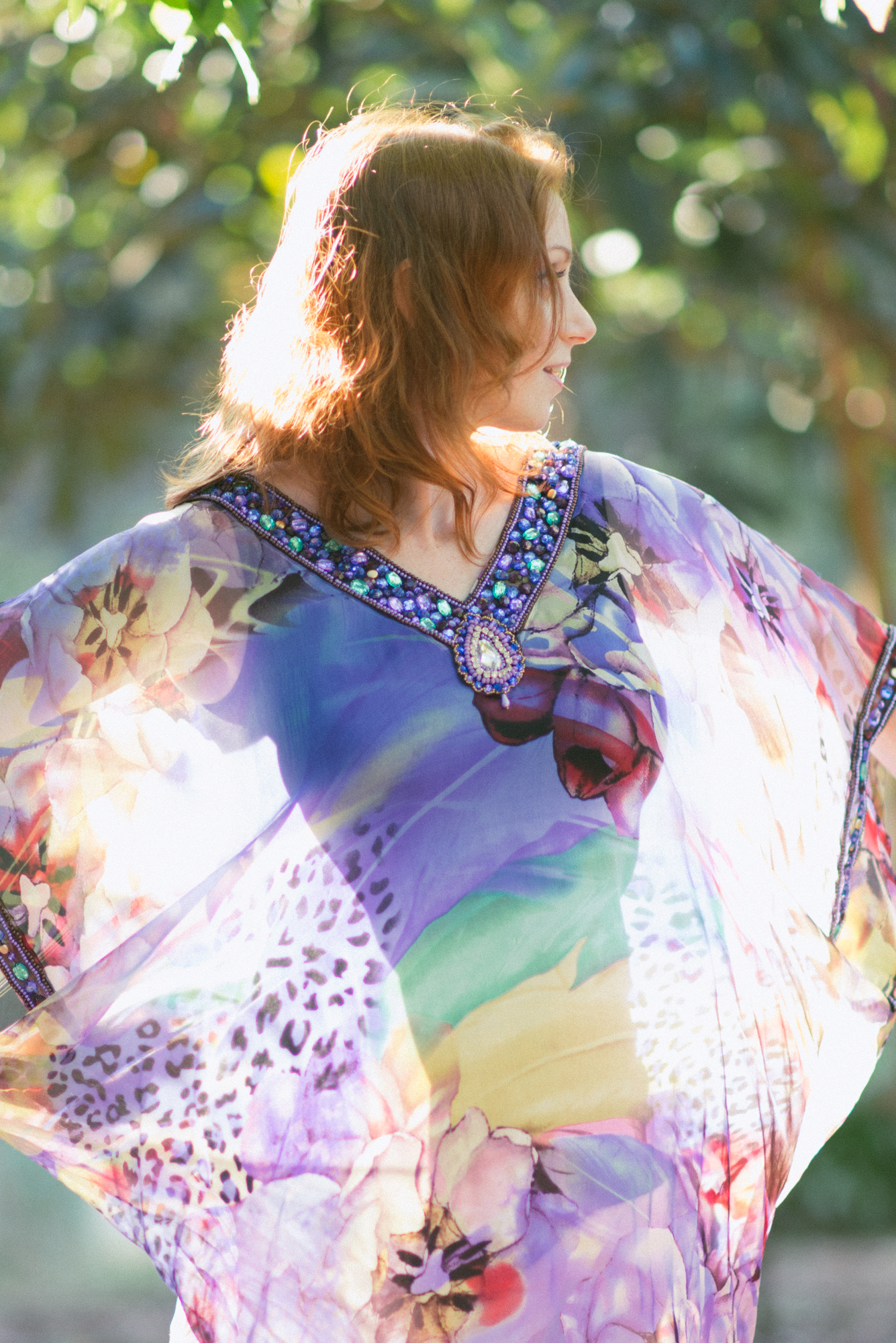 85mm, Nikon, Redhead, backlight, Melbourne photography, Pause The Moment, Kaftan