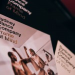 Materials showing preview performance of Sydney Dance Company's 'Frame of Mind' at Southbank Theatre