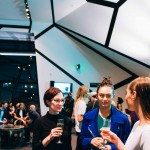 After show drinks for dancers at preview performance of Sydney Dance Company's 'Frame of Mind' at Southbank Theatre