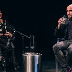 The Age's Philippa Hawker, Artistic Director Rafael Bonachela, at artist talk before a preview performance of Sydney Dance Company's 'Frame of Mind' at Southbank Theatre
